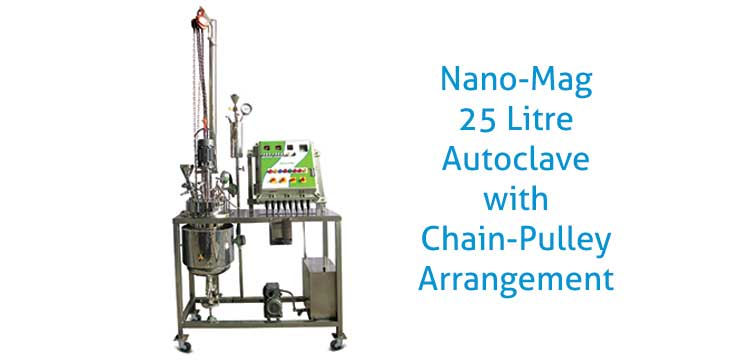 High Pressure Autoclave with Flameproof Control Panel & Chain Pulley